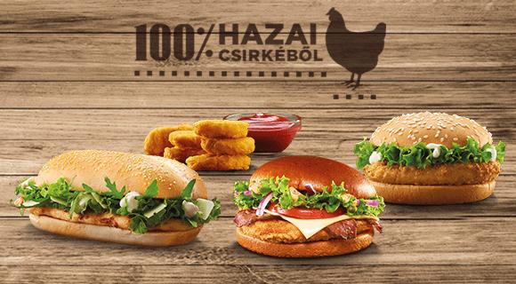 100% hazai csirkéből