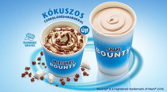 McFlurry® Bounty® és Bounty® Shake