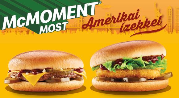 Sajtburger és Chickenburger most Amerikai ízekkel