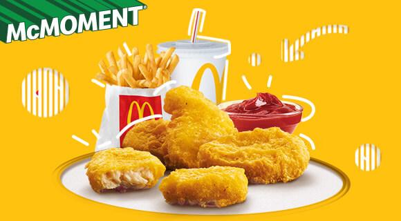 Chicken McNuggets® McMoment® menüben!