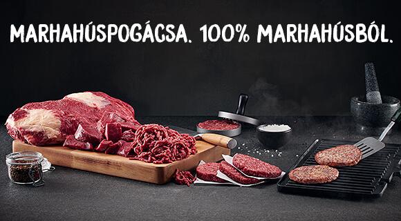 Marhahúspogácsa. 100% marhahúsból.