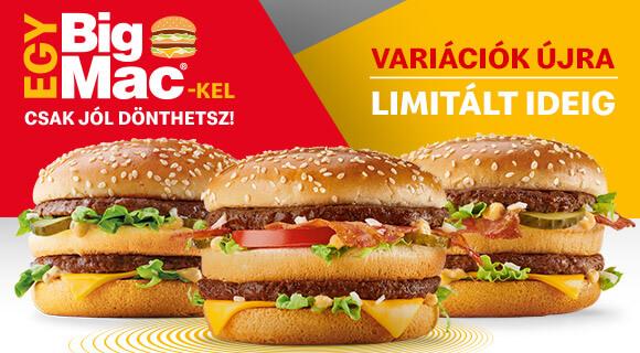 Big Mac® variációk limitált ideig!