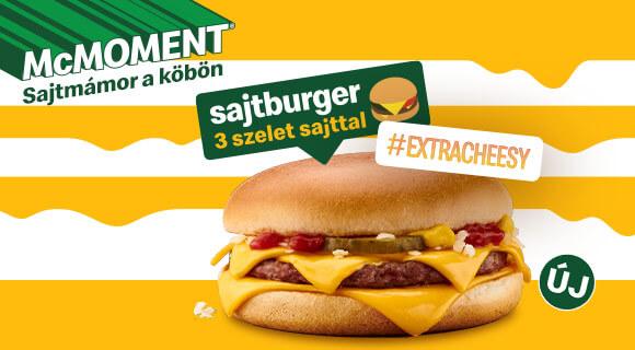 Megérkezett az Extra Cheesy Sajtburger!