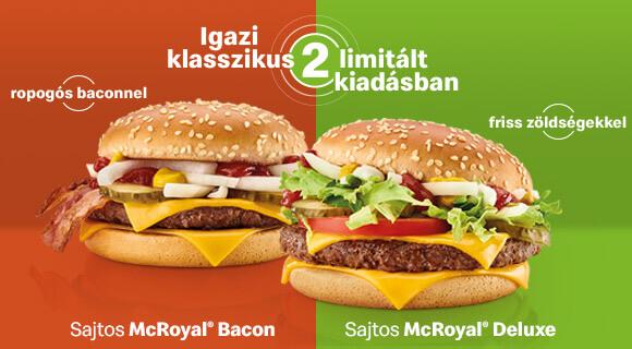 Sajtos McRoyal® Deluxe és Sajtos McRoyal® Bacon a Mekiben!
