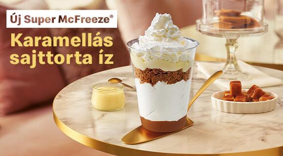 Új karamellás sajttorta ízű Super McFreeze!