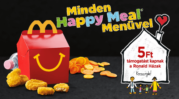 Január elsejétől jótékony célt támogatnak a  Happy Meal menük