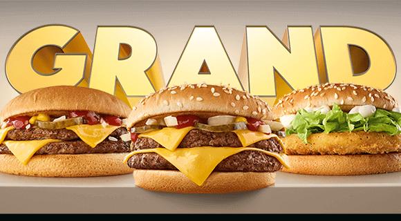Grand szendvicsek a Meki®-ben!